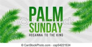 palm leaves for palm sunday palm sunday card poster with palm leaves border