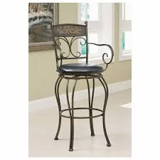 industrial metal bar stools with backs picturesque furniture brown metal bar stools with back and curved