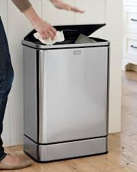 Wooden Kitchen Garbage Cans by Kitchen Stunning Large Kitchen Trash Can Stainless Steel Kitchen