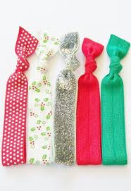ribbon hair ties 5 elastic ribbon hair ties the christmas sparkle set by lucky
