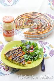 cuisine adict zucchini eggplant pepper carrot spiral tart cuisine addict