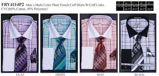 men u0027s black plaid dress shirts with tie hanky cuff links u2013 abc