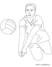 free volleyball coloring pages printing
