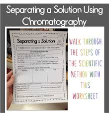 Beginning Middle And End Worksheets Chromatography Experiment With A Twist Technology Tools For Teachers
