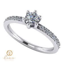 inel diamant inel de logodna din aur cu diamante incolore es118 esan