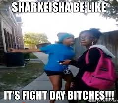 Sharkeisha Meme - sharkeisha be like it s fight day bitches sharkeishaa meme