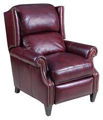 leather wingback recliner wing back chair in burgundy by hooker