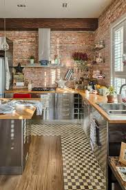 cuisine en brique modest cuisine brique bois d coration chemin e fresh on mur briques