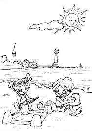 summer vacation coloring sheets coloring pages for kids in the