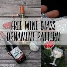 sew a felt wine glass ornament free pattern swoodson says