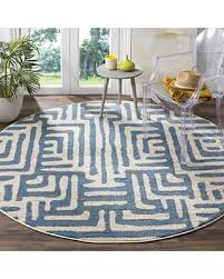 light blue round area rug new savings on safavieh amsterdam collection ams106c modern abstract