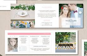 sample wedding brochure simply designed wedding brochure template