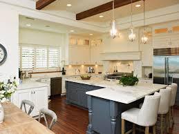 kitchen blue painted island hardwood floor trend kitchen design