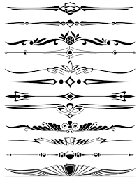 ornament borders elements 13 ai format free vector