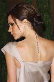 lettering tattoo on celebrity cheryl cole back neck