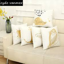 canapé en plume or marine housse de coussin nautique décor à la maison ancre canapé