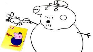 peppa pig grandpa pig coloring book pages kids fun art coloring