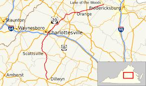 Map Of Richmond Va Virginia State Route 20 Wikipedia