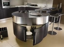 ilot cuisine rond cuisines ilot design rond acier 54 idées pour un îlot de cuisine