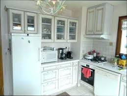 cuisine blanc cérusé armoire ceruse blanc meuble vitrac blanc et bois 1 porte peindre