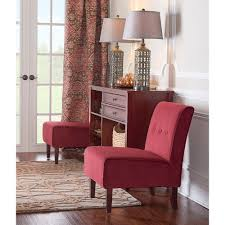 linon home decor coco red fabric accent chair 36096red 01 kd u