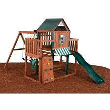 Backyard Discovery Winchester Playhouse Shop Swing N Slide Winchester Complete Ready To Assemble Kit Wood