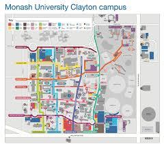 University Of Houston Campus Map Monash University Clayton Campus Map Monash University Clayton