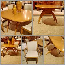 heywood wakefield butterfly dining table heywood wakefield butterfly drop leaf wishbone table 6 chairs