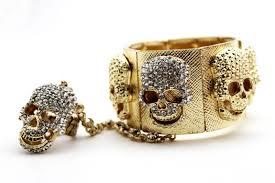 gold hand bracelet images Gold metal hand bracelet chain slave ring squares plate skeleton jpg