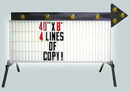 arrow of light decorations rental world l promotional items 40inx8ft lighted arrow sign