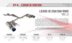 lexus is 250 muffler ark dt s lexus is 250 350 rwd 06 12