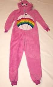 cheer bear care bear pink union suit pajamas halloween costume