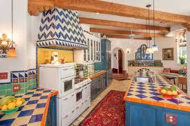 Spanish Style Kitchen Design Traditional Spanish Kitchen Idea With Chevron Motif And Ceramic