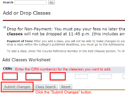 how to register for classes admissions