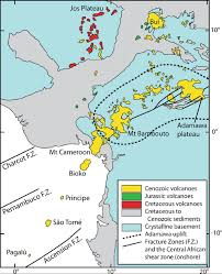 Cameroon Africa Map by Field Evidence For Summit Subsidence Flank Instability And Basal