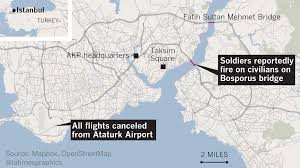 Map Turkey Map Bridges Airport Closures In Istanbul La Times