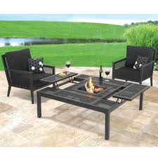 Patio Furniture Sets With Fire Pit by Patio Ideas Outdoor Dining Table Fire Pit With Black Patio