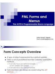 aveva pdms pml basic guide forms u0026 menus romeldhagz gmail com
