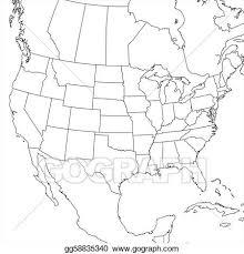united states including alaska and hawaii blank map detailed map usa including alaska hawaii stock vector 569666896