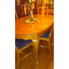 thomasville extendable dining table w removable glass aptdeco
