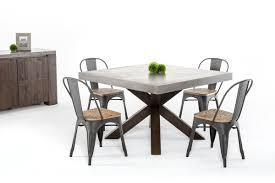 Daytona Modern Dark Grey Eco Modrest Urban Concrete Square Dining Table