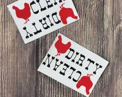 Dirty Clean Dishwasher Magnet Dishwasher Magnet Etsy