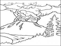 dinosaur and volcano coloring pages virtren com