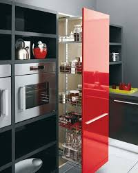 fabulous modern red black and white kitchen decoration using