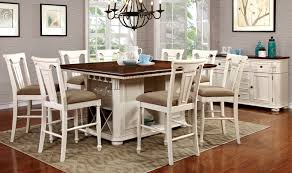 country style dining room tables sabrina country style 9 pcs cherry u0026 white finish counter height
