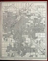 this is reproduction of a vintage 1947 map of the downtown area of