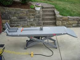 used electric lift table handy standard air motorcycle lift table harley davidson forums
