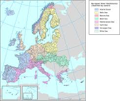 world rivers map shapefile european river catchments geodata maps shapefiles