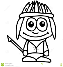 indian kids coloring page stock illustration image 78506842