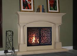 Candles For Fireplace Decor by Decorating Luxury White Fireplace Mantel Kits With Beige Wall And